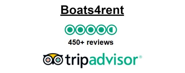 Boats4rent Amsterdam Boat Rental has very good to excellent reviews on Tripadvisor 2019
