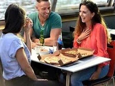 Amsterdam Canal Cruise with Pizza Pancake or Three Course Dinner