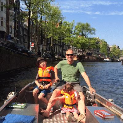 Bootfahren in Amsterdam