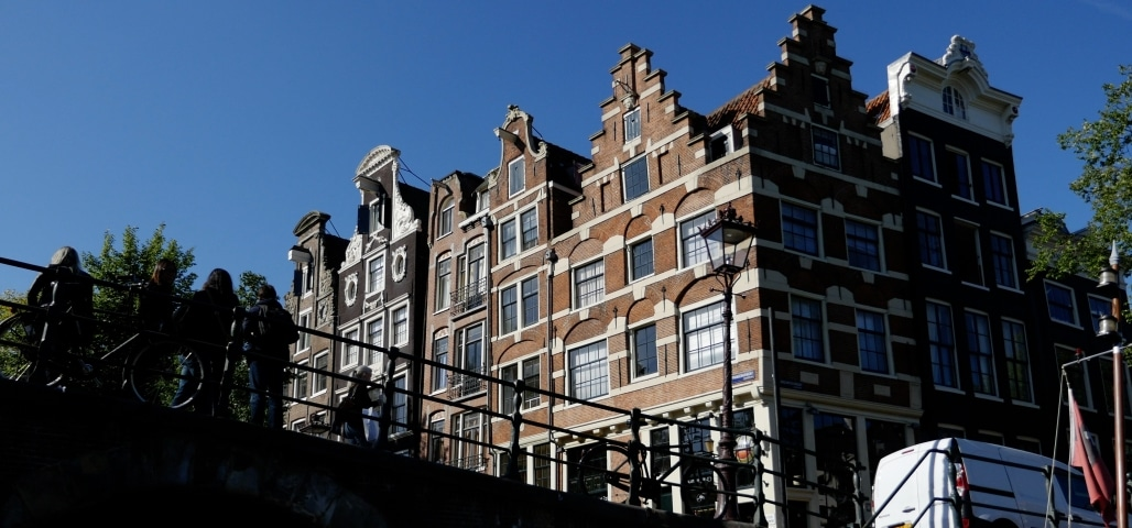 Most famous canal Amsterdam Prinsengracht