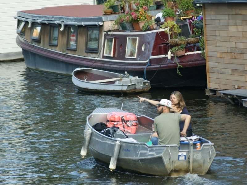 Amsterdam canal routes