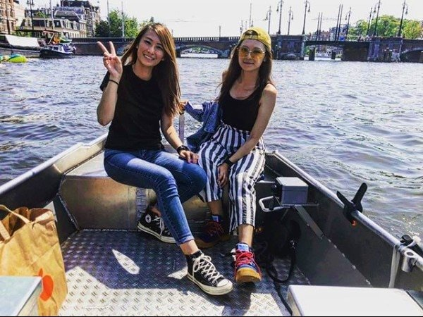 Amsterdam electric canal boat