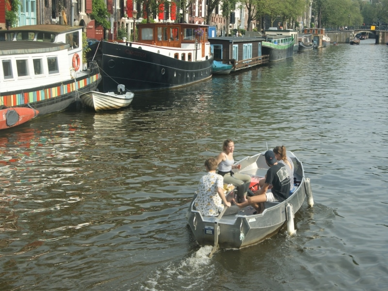 Boat hire location Amsterdam